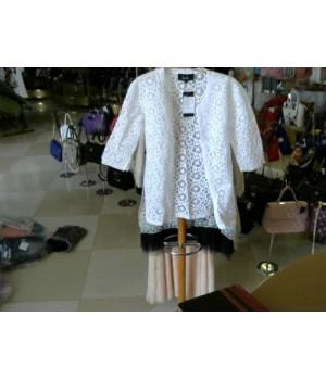 Кардиган белый  Leslie (ManteauSDentella) [Белый]