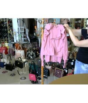 Куртка бледно розового цвета  по воротн пуговицы (PATRISIA FERE (548-12) [розовый]
