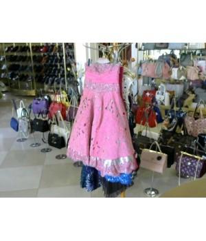 Платье розового серого цвета юбка колокол фатин AEELIS (20904)