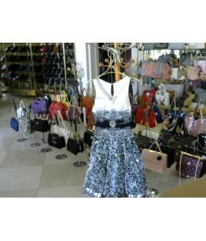 Платье черно белое юбка колокол фатин AEELIS (209004)