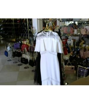 Платье белое в пол рыбка ISABEL GARSIA (BB1787) [Белый]
