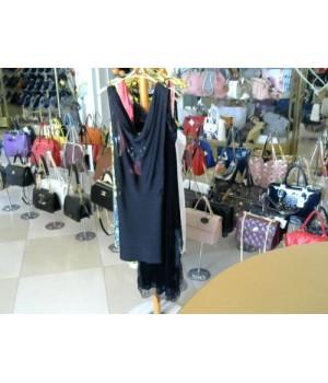 Платье -резинка черное короткое BEBE (722) [Черный]