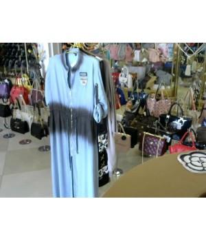 Платье голубое мокрый шелк OTTNILO(120716) [голубой]