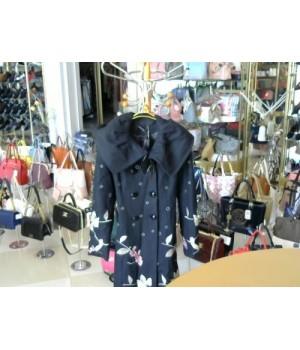 Пальто черн кашимир атласная нить беж роз цвеELENE VIARE (EV09D98261) [Черный]
