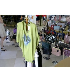 Блуза олива летучая мыш AVANTURES(924033) [Оливковый]
