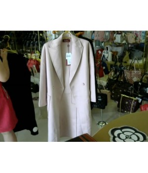 Пальто на запах розовая пудра MAX MАRA 5057 [Пудровый]