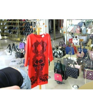 Платье красное черн вышевка HAYA KLIN (sofia) [красный]