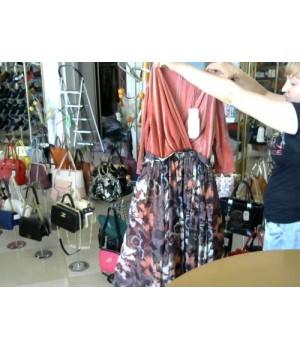 Платье верх персик низ шефон цветной Isabel Garsia BB1457 [Разноцветный]