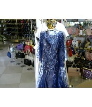 Платье синего цвета фатин расшит камнями AELLIS 1403