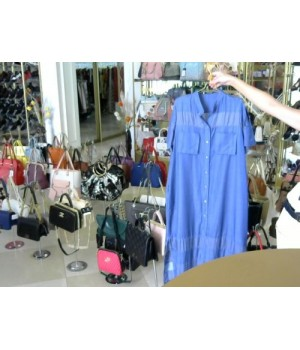 Платье голубого цв длиное корот рук с прорезями OBLIGUE E170886A [голубой]