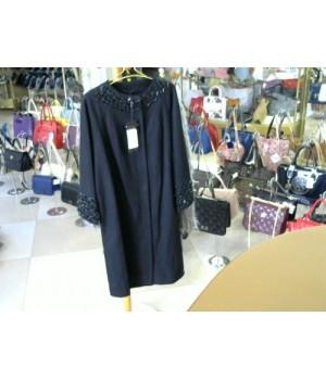 Пальто черные стразы  Elene Viare 168011 [Черный]
