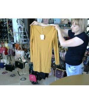 Блуза удлиненая цвет горчица ELEONORA AMADEI 2161444 [Горчица]