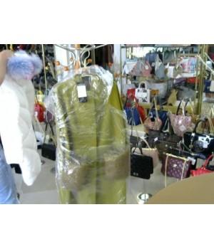 """Пальто цвет """"Олива"""" карман мех остегивается E. Viare (V6106) [Оливковый]"""