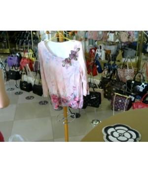 Блуза 3/4 рукав нежно-розового цвета Philipp Carat (a312) [розовый]
