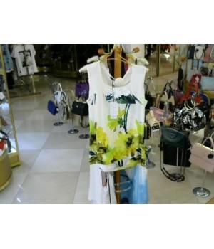 Майка без рукавов бело-желто-зеленый цв Fuego Woman (263) [бело-зеленый]
