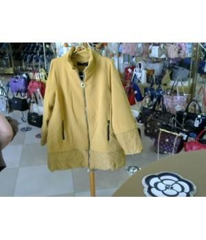 Куртка-пальто горчичного цвета Cristyn Co (91215036) [Горчица]
