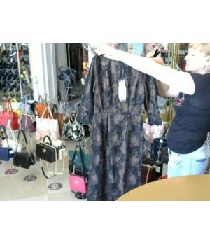 Платье вечернее  [Черный] фатин расшит черной вышивкой Isabel garsia (RK1608)