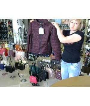 Куртка короткий цвет марсала покрытие сетка Christin Co (91215029) [Марсала]