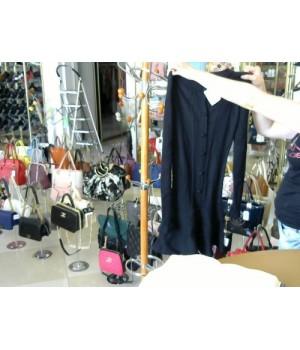 Жакет-платье вязан впереди застежка петля Valentino (9456) [Черный]