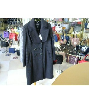 Пальто черное Nissa (арт RG8042) [Черный]