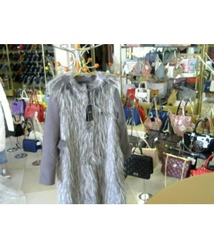 Пальто серого цв Nissa (RC8235) [Светло-сер]