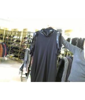 MIN (659192) платье длин корот рукав черн