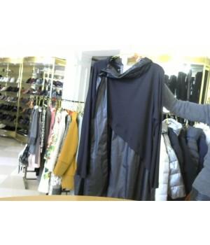 MIN (19-4029) платье в пол длин рукав черн
