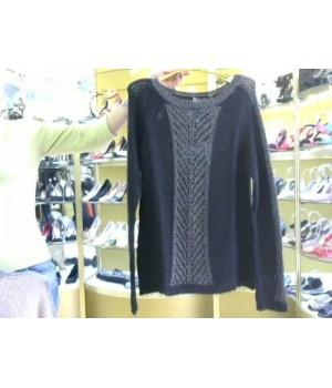 Пуловер ажур вязка  Rinascimento 83 AA черн