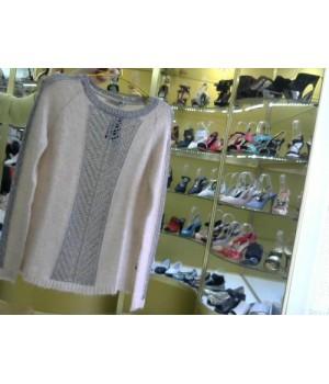 Пуловер ажур вязка  Rinascimento 83 AA роз