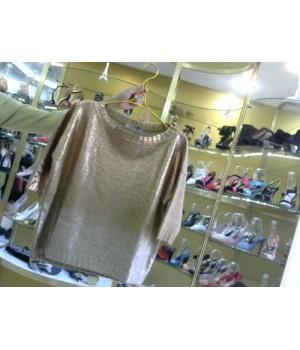 Пуловер с цветным напылением  Rinascimento 95 AA беж