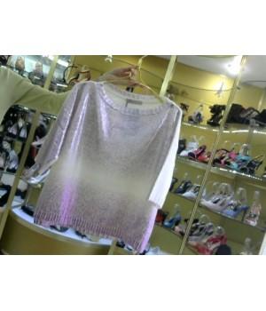 Пуловер с цветным напылением  Rinascimento 95 AA сирень