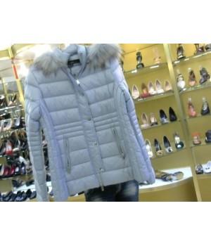 Куртка с писц отделкой и капюш Ananke 210358 голуб