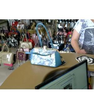 сумка Appland (22654-2)   формов сочетание двух цветов кожа + кружева  [голубой]