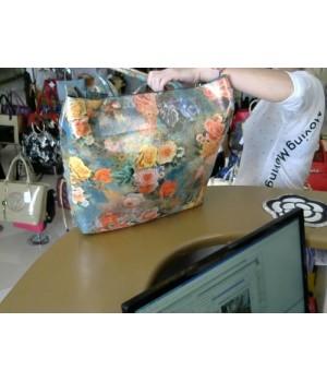 сумка (8098) большая формованая пакетный стиль   [бирюза]