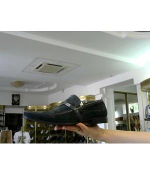 Лоферы син замш MIX M05E95061-2 [Черный]