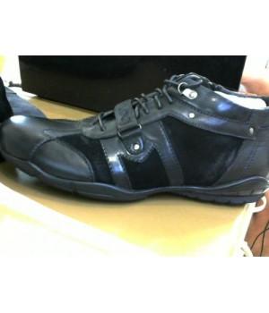 Кроссовки черн кожаMIX X036-152-1R [Черный]