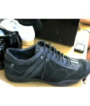 Кроссовки черн замш/кожа Cable Q5260081-1 [Черный]